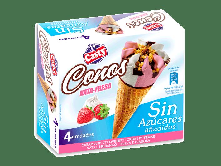 conos-fresa-y-nata-sin-azúcar