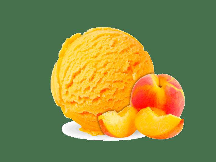 helado-melocotón